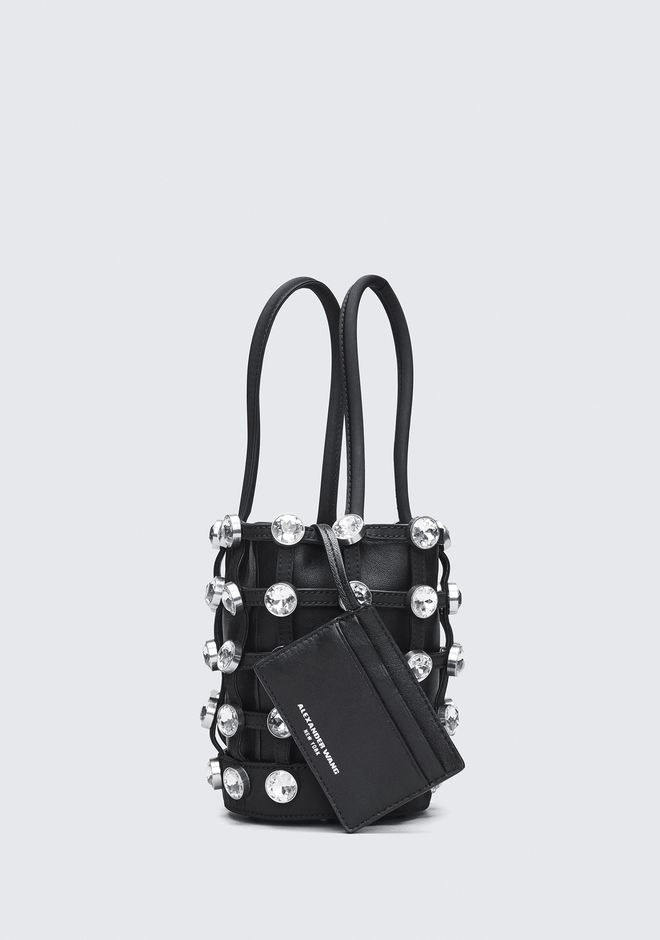ALEXANDER WANG CAGED ROXY MINI BUCKET CLUTCH Adult 12_n_e