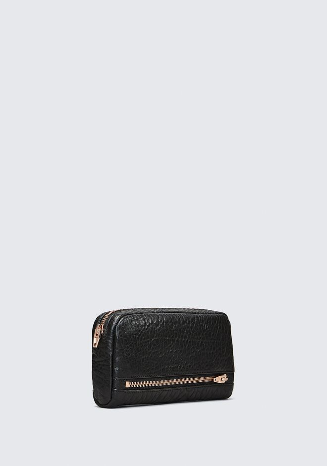 ALEXANDER WANG FUMO CONTINENTAL WALLET IN  BLACK PEBBLE LEATHER WITH ROSEGOLD SMALL LEATHER GOOD Adult 12_n_d