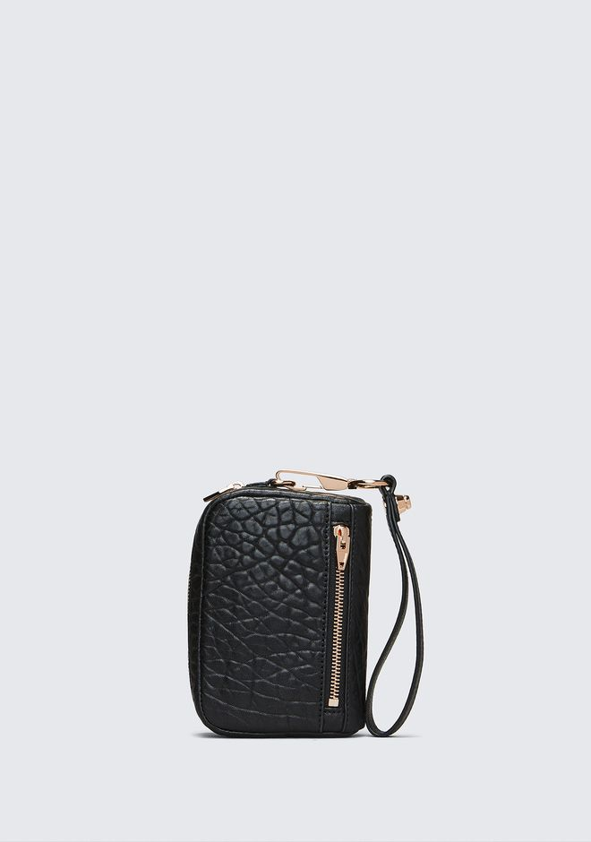ALEXANDER WANG LARGE FUMO IN PEBBLED BLACK WITH ROSE GOLD SMALL LEATHER GOOD Adult 12_n_f