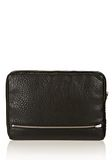 ALEXANDER WANG FUMO LAPTOP CASE IN BLACK PEBBLE LEATHER WITH ROSEGOLD TECH Adult 8_n_e