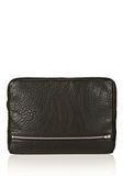 ALEXANDER WANG FUMO LAPTOP CASE IN BLACK PEBBLE LEATHER WITH ROSEGOLD TECH Adult 8_n_f