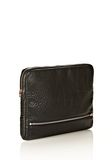 ALEXANDER WANG FUMO LAPTOP CASE IN BLACK PEBBLE LEATHER WITH ROSEGOLD TECH Adult 8_n_r