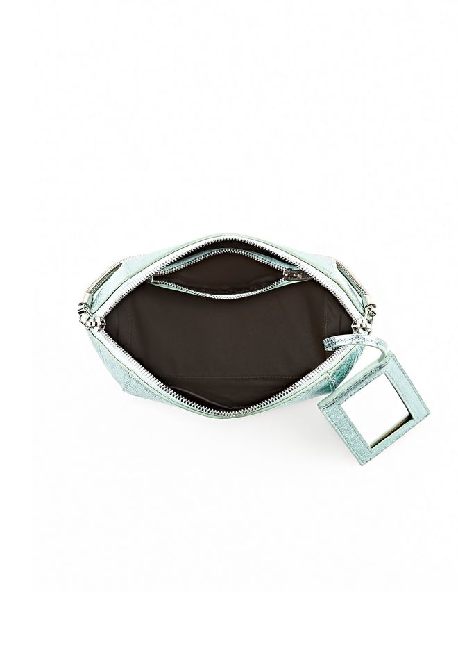 ALEXANDER WANG CHASTITY MAKE-UP POUCH IN FOILED ZINC WITH ZINC SMALL LEATHER GOOD Adult 12_n_a
