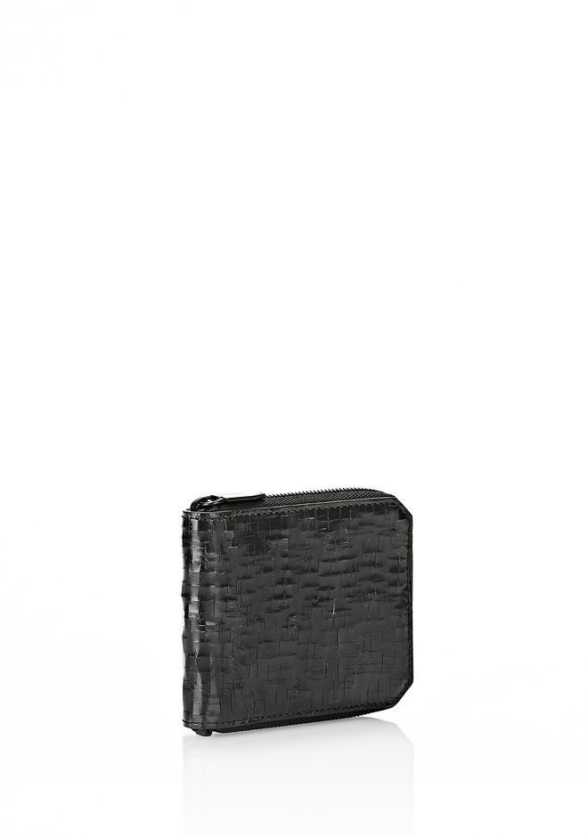 ALEXANDER WANG ZIPPED BI-FOLD WALLET IN WITH MATTE BLACK Wallets Adult 12_n_e