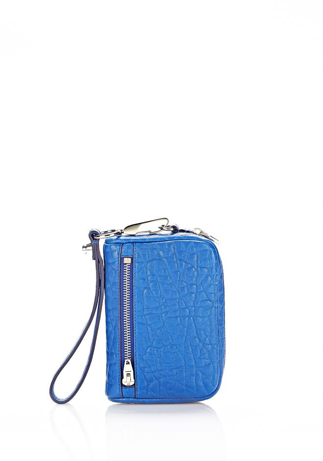 ALEXANDER WANG LARGE FUMO WALLET IN ROYAL WITH RHODIUM SMALL LEATHER GOOD Adult 12_n_f