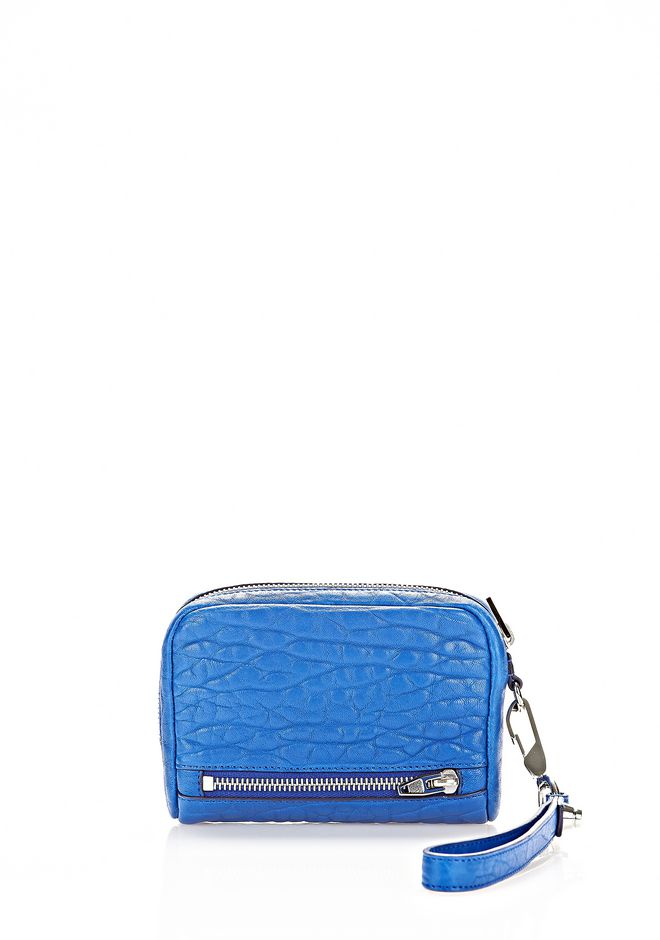 ALEXANDER WANG LARGE FUMO WALLET IN ROYAL WITH RHODIUM SMALL LEATHER GOOD Adult 12_n_r