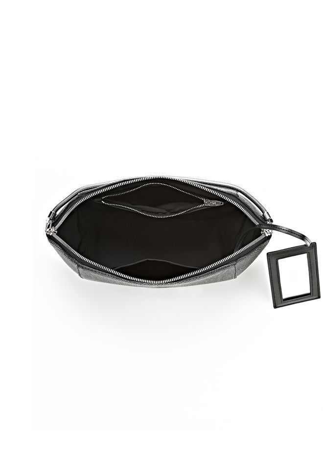 ALEXANDER WANG LARGE CHASTITY MAKE UP POUCH IN BLACK SMALL LEATHER GOOD Adult 12_n_a