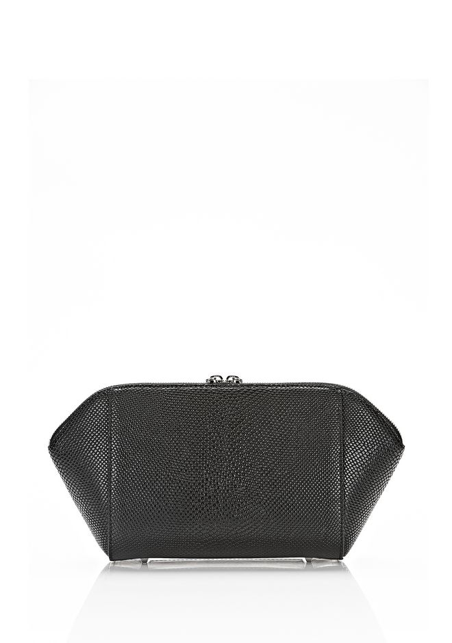 ALEXANDER WANG LARGE CHASTITY MAKE UP POUCH IN BLACK SMALL LEATHER GOOD Adult 12_n_d