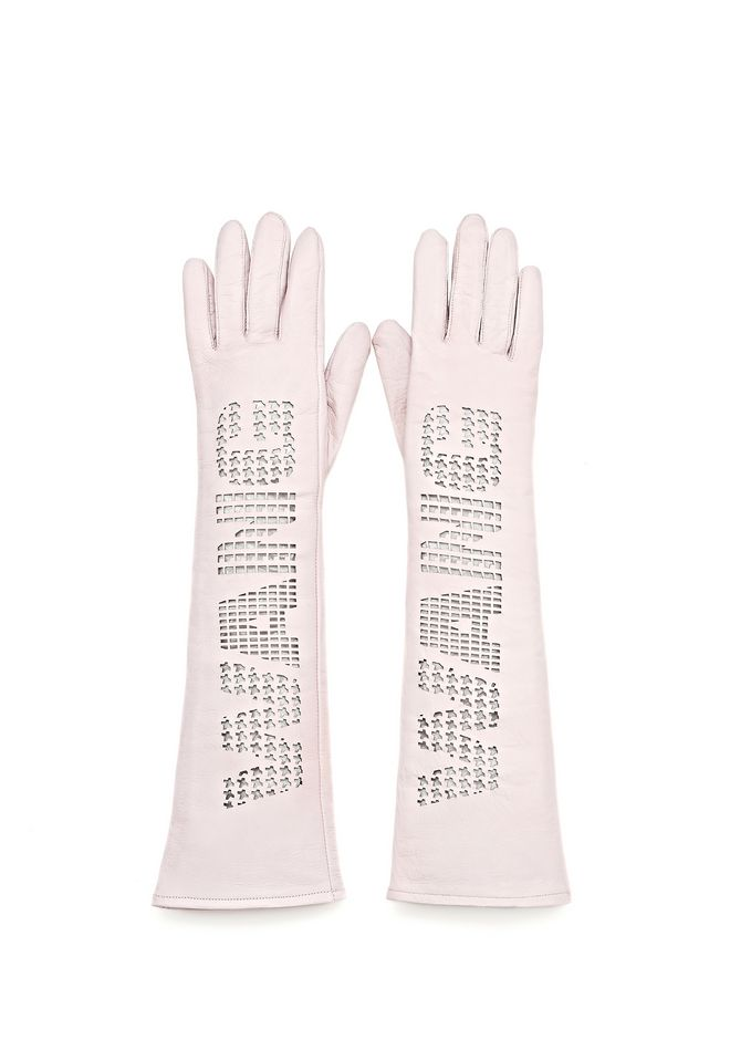 ALEXANDER WANG ELBOW LENGTH GLOVE WITH LOGO SMALL LEATHER GOOD Adult 12_n_d