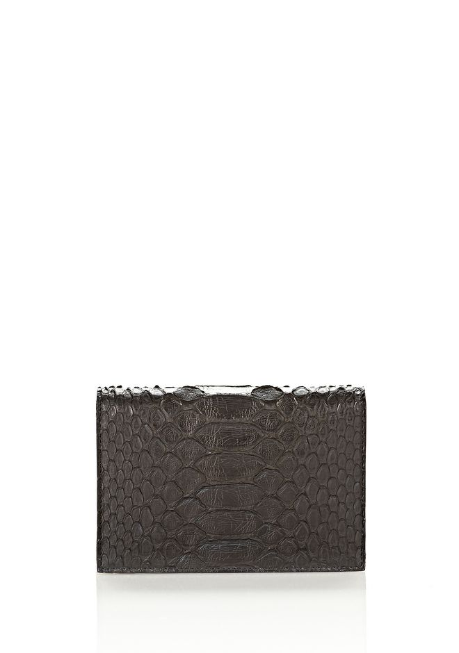 ALEXANDER WANG PRISMA SKELETAL BIKER PURSE IN EMBOSSED PYTHON Wallets Adult 12_n_e