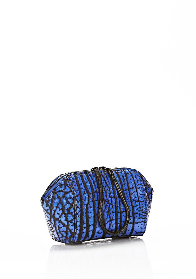ALEXANDER WANG CHASTITY MAKE UP POUCH IN CONTRAST TIP NILE SMALL LEATHER GOOD Adult 12_n_d