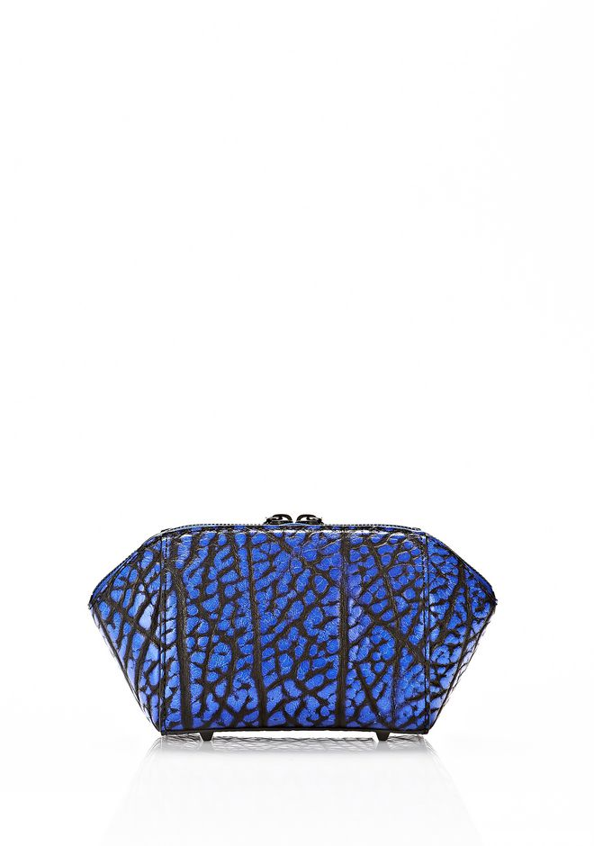 ALEXANDER WANG CHASTITY MAKE UP POUCH IN CONTRAST TIP NILE SMALL LEATHER GOOD Adult 12_n_e