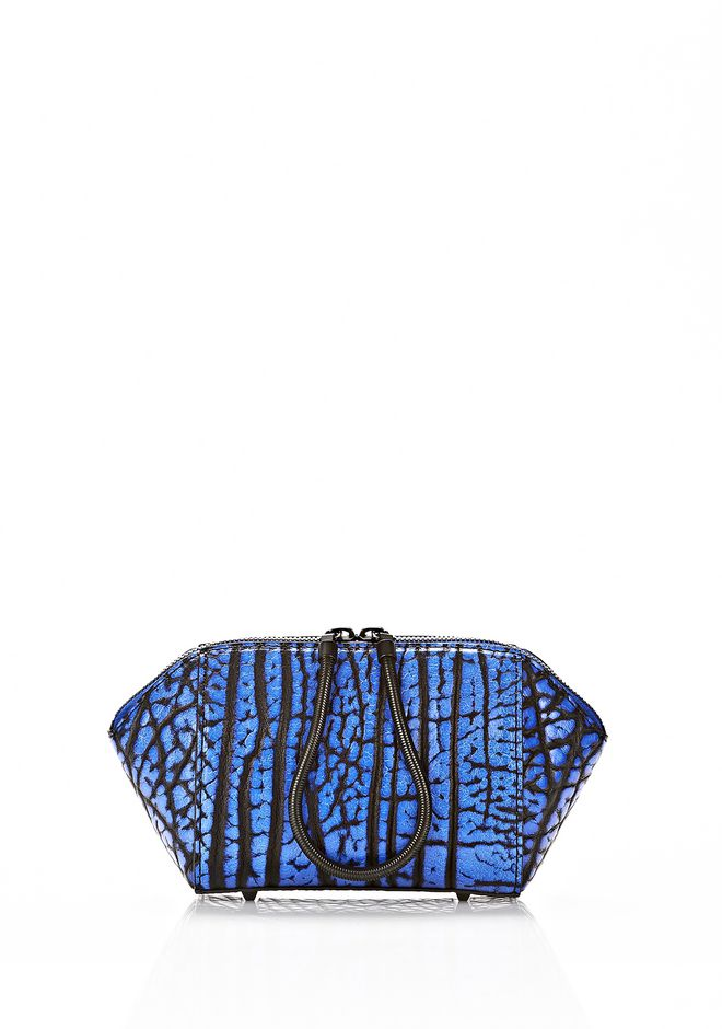 ALEXANDER WANG CHASTITY MAKE UP POUCH IN CONTRAST TIP NILE SMALL LEATHER GOOD Adult 12_n_f