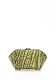 ALEXANDER WANG CHASTITY MAKE UP POUCH IN CONTRAST TIP CITRON SMALL LEATHER GOOD Adult 8_n_e