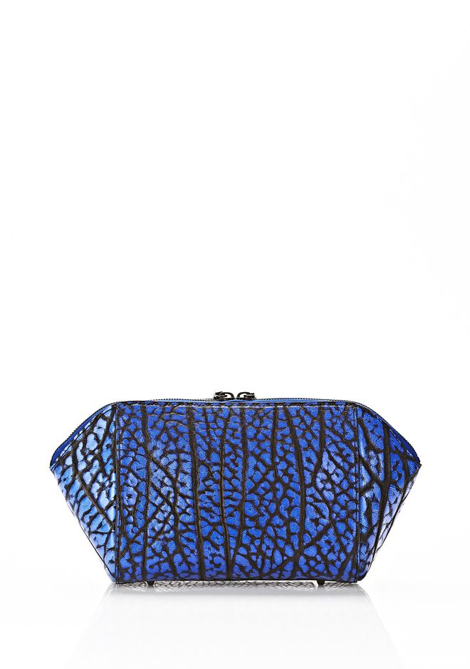 ALEXANDER WANG LARGE CHASTITY MAKE UP CLUTCH IN CONTRAST TIP NILE SMALL LEATHER GOOD Adult 12_n_e
