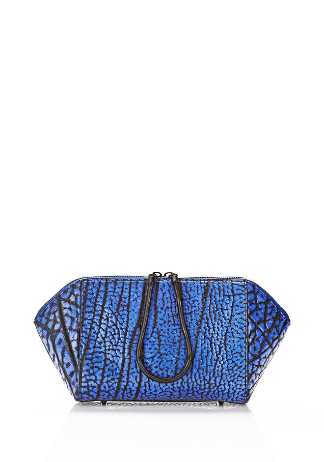 ALEXANDER WANG LARGE CHASTITY MAKE UP CLUTCH IN CONTRAST TIP NILE SMALL LEATHER GOOD Adult 12_n_f