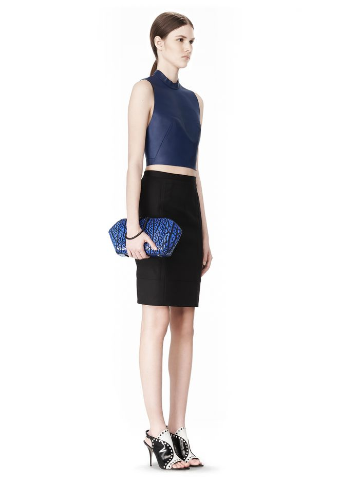 ALEXANDER WANG LARGE CHASTITY MAKE UP CLUTCH IN CONTRAST TIP NILE SMALL LEATHER GOOD Adult 12_n_r