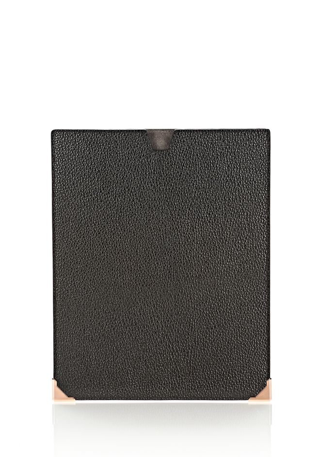 ALEXANDER WANG PRISMA IPAD SLEEVE IN PEBBLED CALF WITH ROSE GOLD TECH Adult 12_n_f