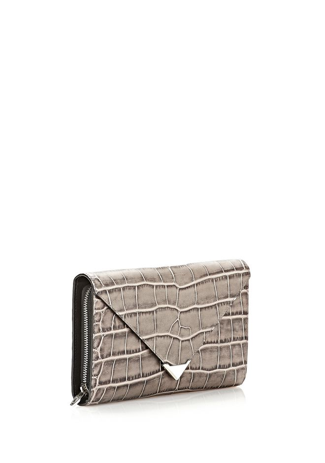 ALEXANDER WANG PRISMA ENVELOPE  WALLET IN OYSTER WITH RHODIUM Wallets Adult 12_n_e