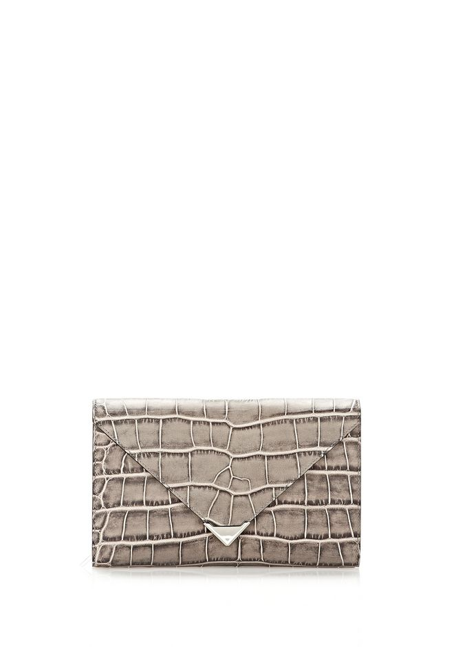 ALEXANDER WANG PRISMA ENVELOPE  WALLET IN OYSTER WITH RHODIUM Wallets Adult 12_n_f