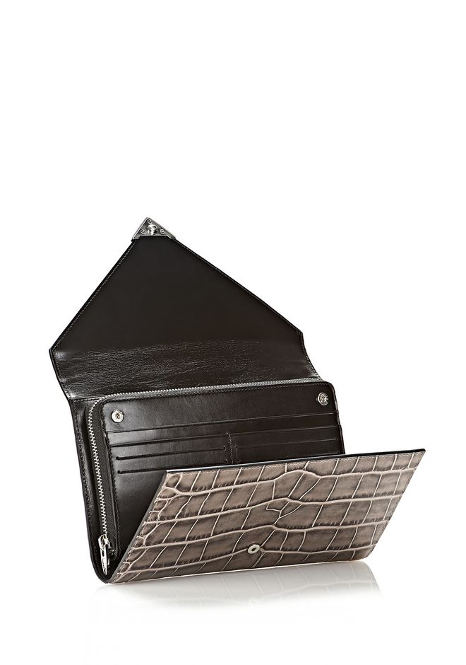 ALEXANDER WANG PRISMA ENVELOPE  WALLET IN OYSTER WITH RHODIUM Wallets Adult 12_n_r