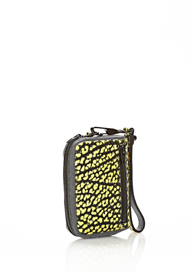 ALEXANDER WANG LARGE FUMO IN CONTRAST TIP CITRON Wallets Adult 12_n_e