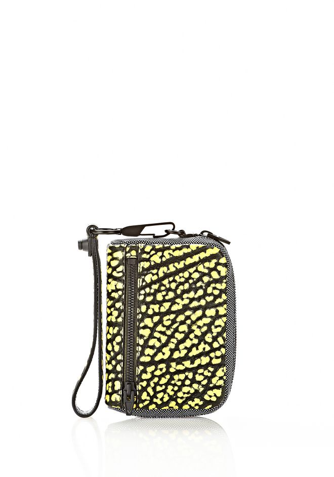 ALEXANDER WANG LARGE FUMO IN CONTRAST TIP CITRON Wallets Adult 12_n_f