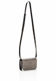 ALEXANDER WANG PRISMA DOUBLE BIKER PURSE IN EMBOSSED OYSTER SMALL LEATHER GOOD Adult 8_n_e