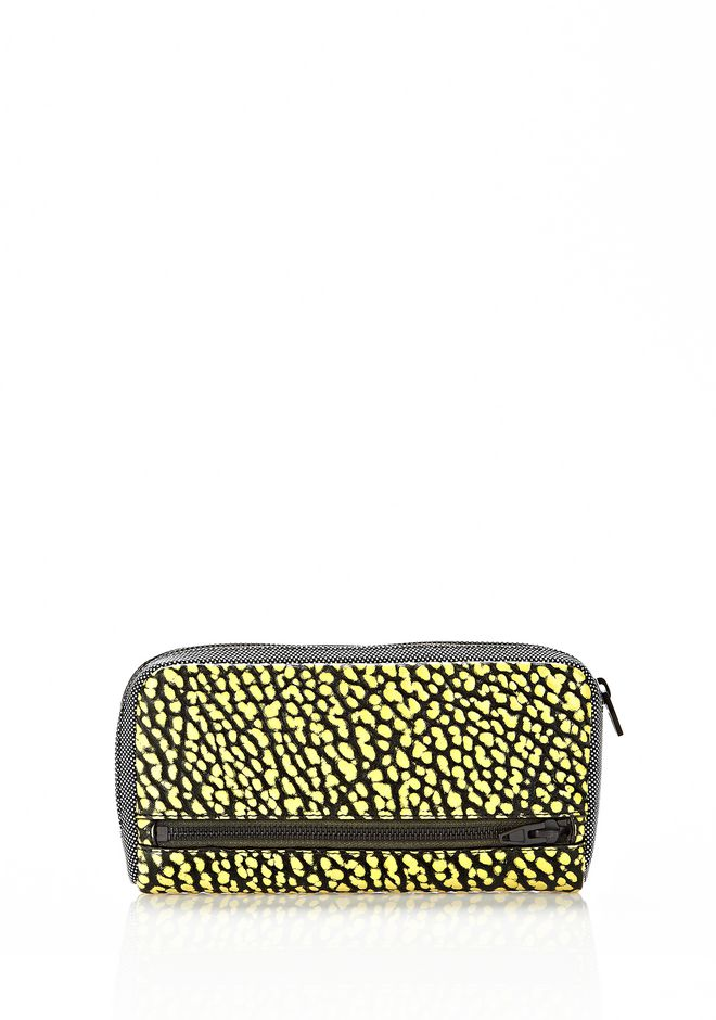 ALEXANDER WANG FUMO CONTINENTAL WALLET IN CONTRAST TIP CITRON Wallets Adult 12_n_e