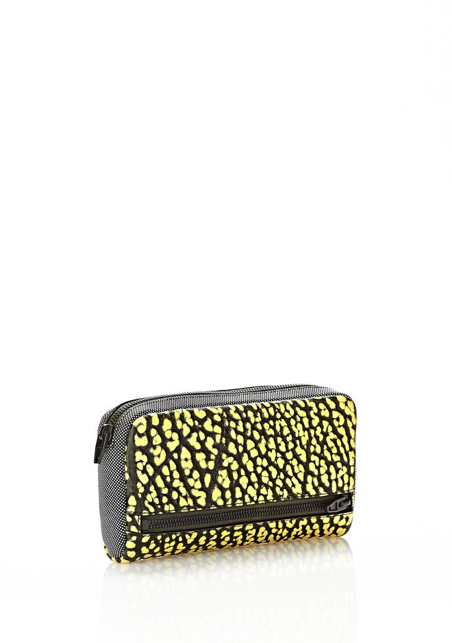 ALEXANDER WANG FUMO CONTINENTAL WALLET IN CONTRAST TIP CITRON Wallets Adult 12_n_r