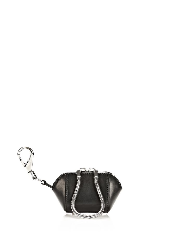 ALEXANDER WANG RUNWAY MINI MAKE UP POUCH IN BLACK SMALL LEATHER GOOD Adult 12_n_f
