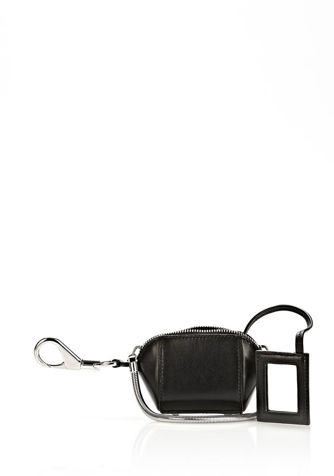 ALEXANDER WANG RUNWAY MINI MAKE UP POUCH IN BLACK SMALL LEATHER GOOD Adult 12_n_r