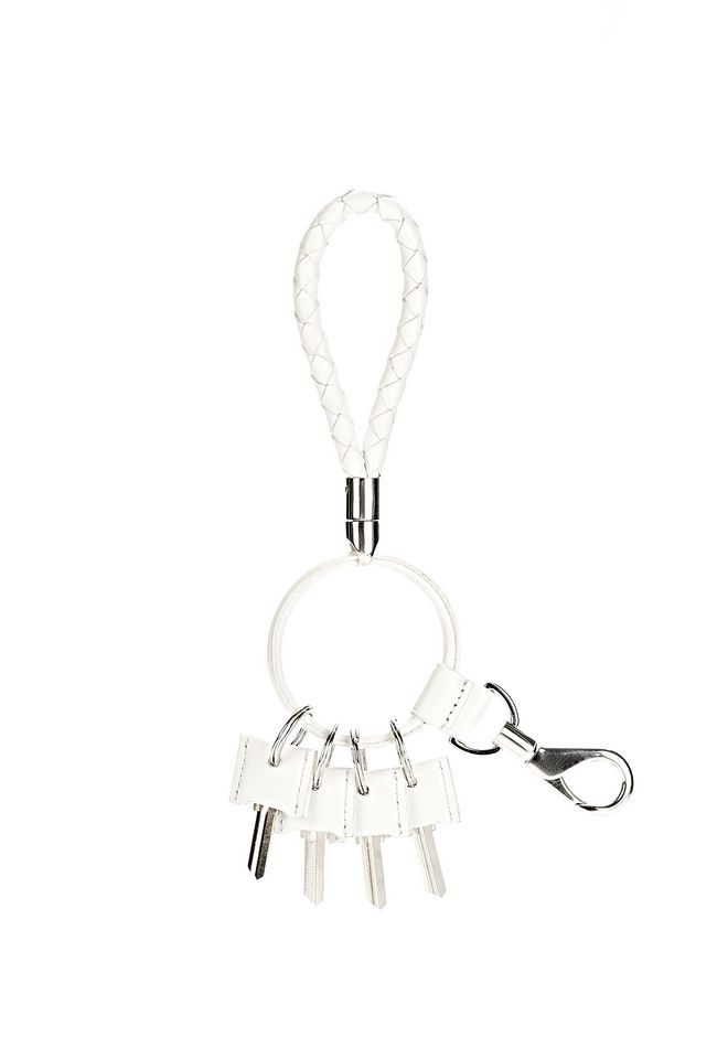 ALEXANDER WANG RUNWAY KEYRING IN  SILICA SMALL LEATHER GOOD Adult 12_n_e