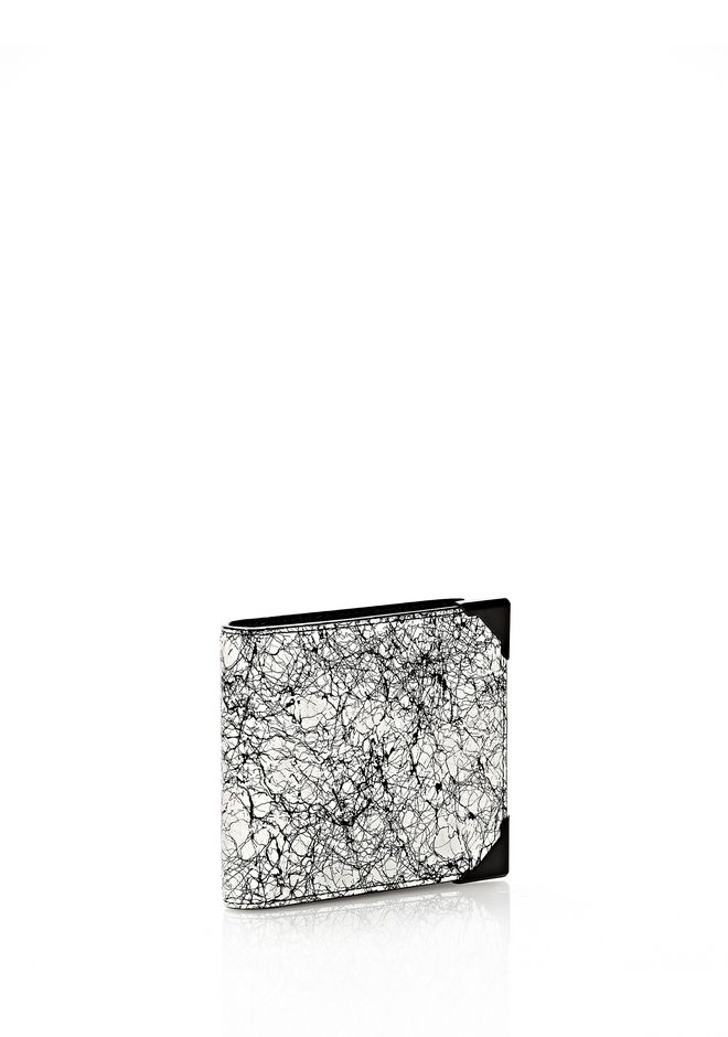 ALEXANDER WANG WALLIE BI-FOLD IN BLACK AND WHITE  WITH MATTE BLACK Wallets Adult 12_n_e