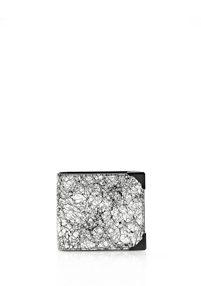ALEXANDER WANG WALLIE BI-FOLD IN BLACK AND WHITE  WITH MATTE BLACK Wallets Adult 12_n_f