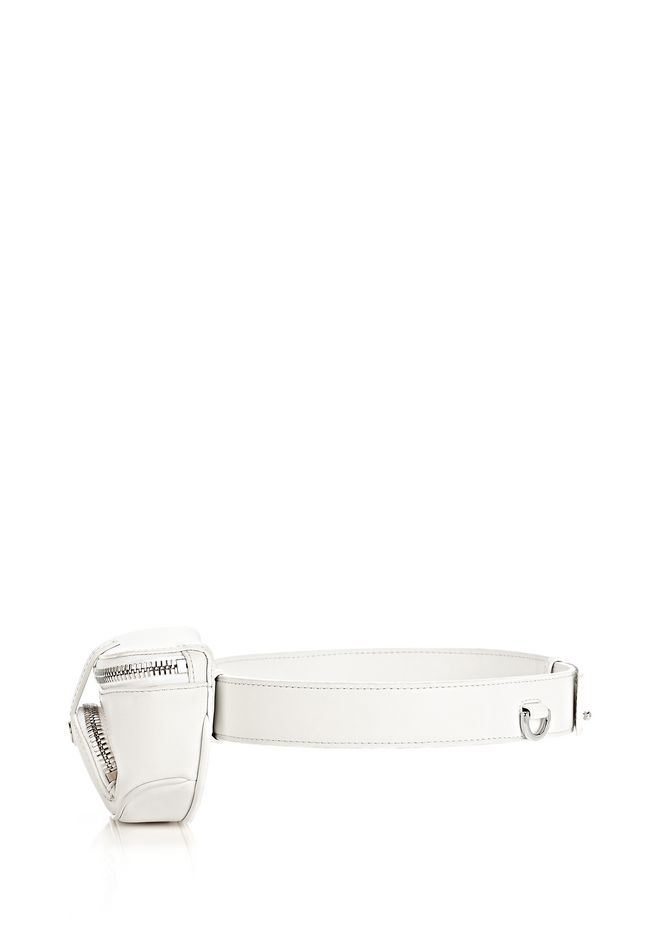 ALEXANDER WANG RUNWAY MINI FANNY PACK IN SILICA WITH RHODIUM SMALL LEATHER GOOD Adult 12_n_a