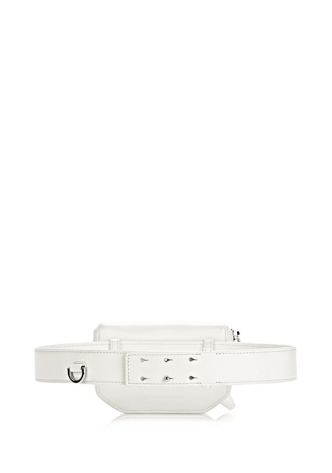 ALEXANDER WANG RUNWAY MINI FANNY PACK IN SILICA WITH RHODIUM SMALL LEATHER GOOD Adult 12_n_d