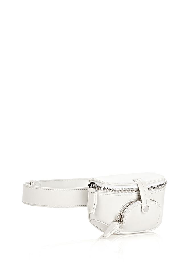 ALEXANDER WANG RUNWAY MINI FANNY PACK IN SILICA WITH RHODIUM SMALL LEATHER GOOD Adult 12_n_e