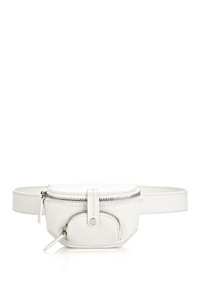 ALEXANDER WANG RUNWAY MINI FANNY PACK IN SILICA WITH RHODIUM SMALL LEATHER GOOD Adult 12_n_f