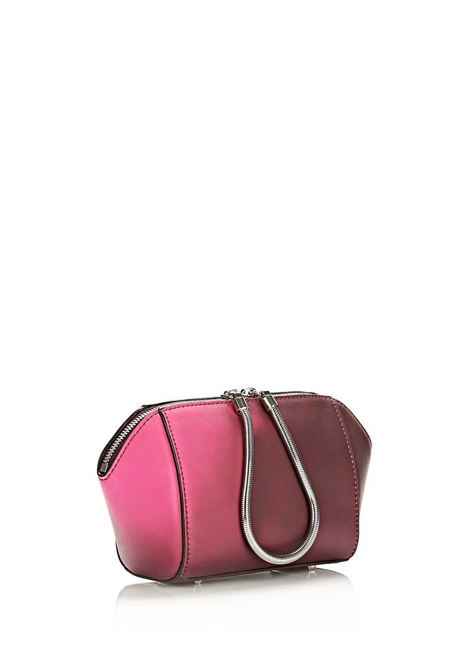 ALEXANDER WANG HEAT SENSITIVE CHASTITY MAKE UP POUCH IN SUPERNOVA SMALL LEATHER GOOD Adult 12_n_d