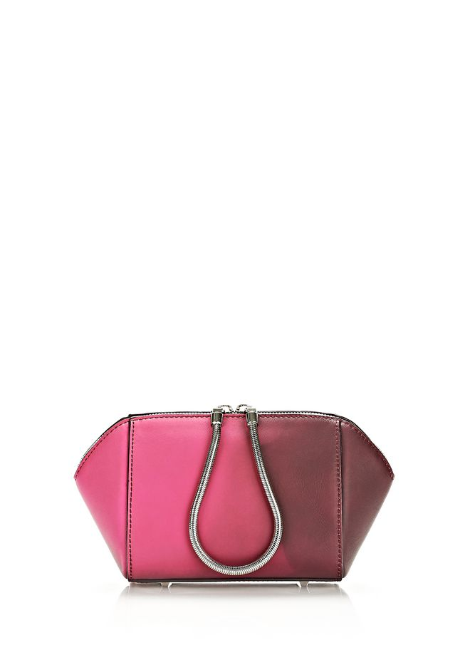 ALEXANDER WANG HEAT SENSITIVE CHASTITY MAKE UP POUCH IN SUPERNOVA SMALL LEATHER GOOD Adult 12_n_r