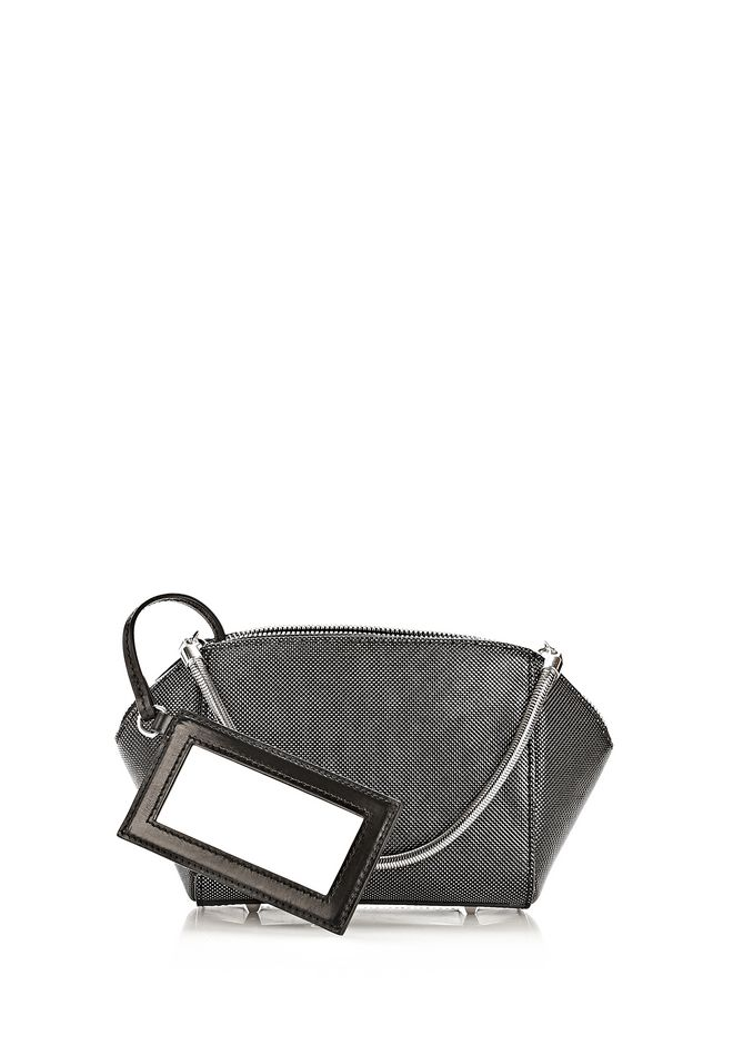 ALEXANDER WANG CHASTITY MAKE UP POUCH IN CARBON SMALL LEATHER GOOD Adult 12_n_d