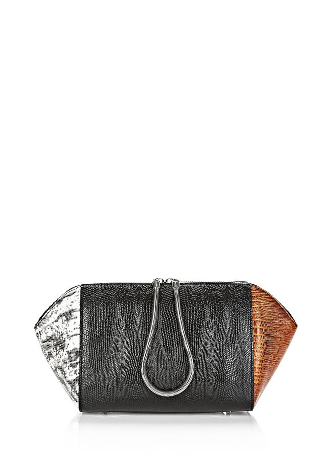 Alexander Large Embossed Chasy Makeup Pouch In Tricolor Clutch 12 N F