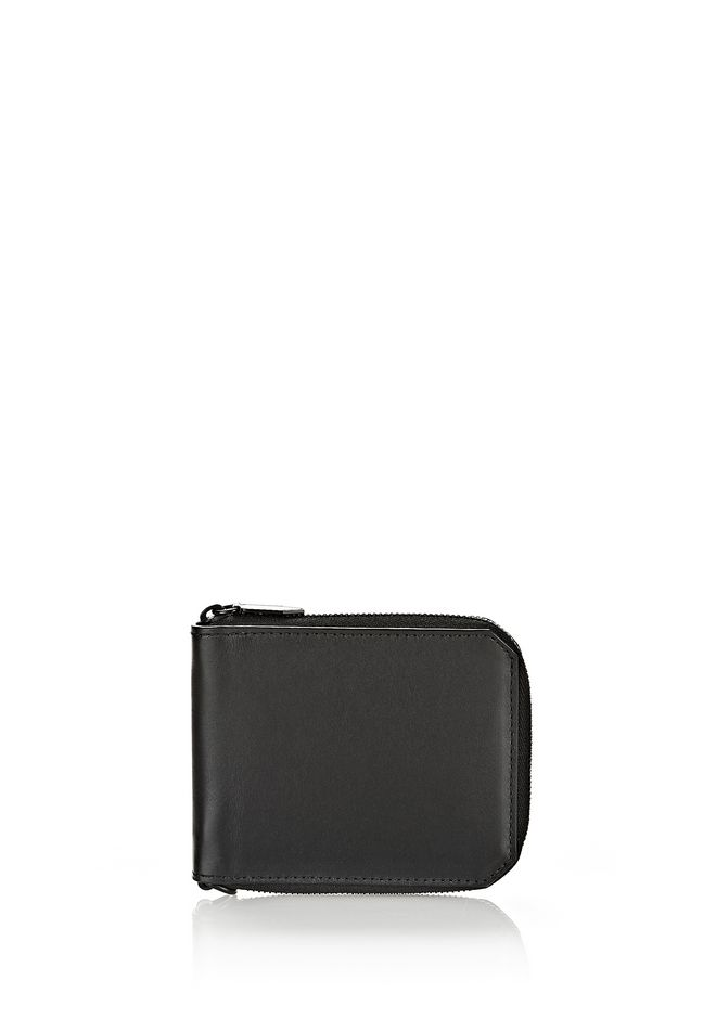 ALEXANDER WANG ZIPPED BI-FOLD WALLET IN SMOOTH BLACK SMALL LEATHER GOOD Adult 12_n_f