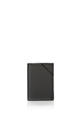 HINGED WALLET IN SMOOTH BLACK