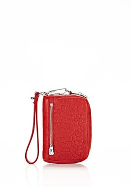 LARGE FUMO WALLET IN PEBBLED CULT WITH RHODIUM