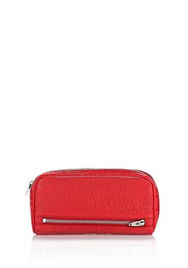 FUMO CONTINENTAL WALLET IN PEBBLED CULT WITH RHODIUM