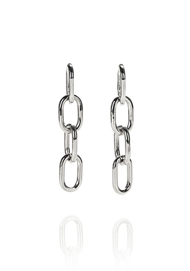 Alexander Four Link Chain Earrings In Rhodium Accessories 12 N F
