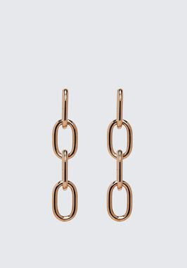 FOUR-LINK CHAIN EARRINGS IN ROSE GOLD