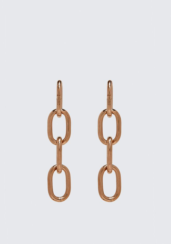 ALEXANDER WANG FOUR-LINK CHAIN EARRINGS IN ROSE GOLD Accessories Adult 12_n_a